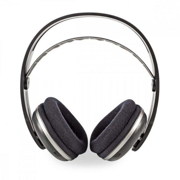 Vezeték Nélküli Fejhallgatók | Rádiófrekvencia (RF) | Teljes fület befedő kialakítás | Töltőállomás | Fekete / Ezüst Nedis HPRF210BK