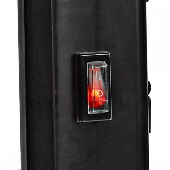 Üvegpanel-radiátor   Hőfokszabályozó   2 Fűtési Fokozat   Álló/Falra Rögzíthető   2000 W   Fekete Nedis HTPL20FBK