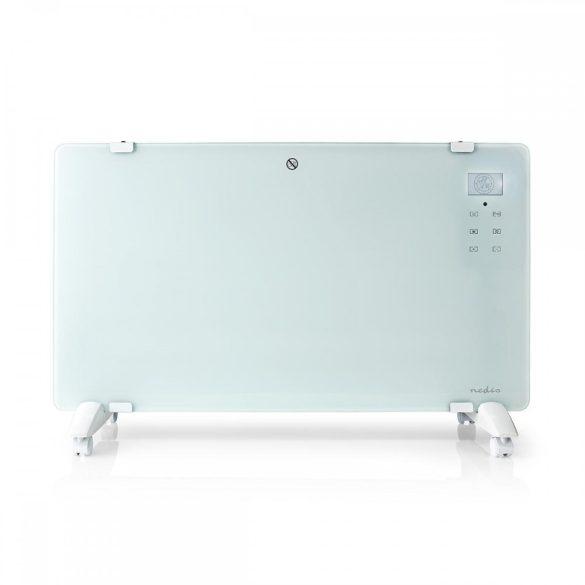 Üvegpanel-radiátor   Hőfokszabályozó   2 Fűtési Fokozat   Álló/Falra Rögzíthető   2000 W   Nedis HTPL20FWT
