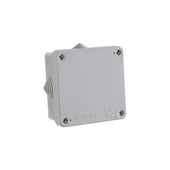 Kötődoboz membrános 107X107X60MM IP65JG-3708