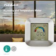 Páratartalom-mérő | Hőmérő | Óra | Érintőképernyő Nedis KATR105SI