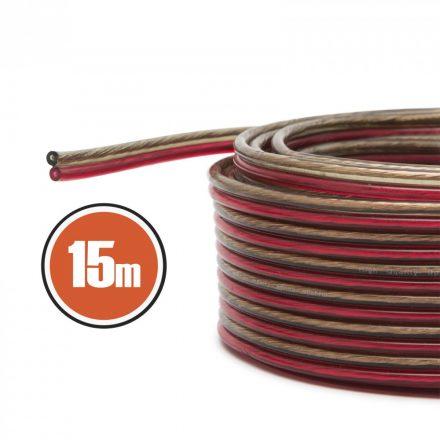 Hangszóró kábel 2 x 1,0 mm² 15 m NX20024x15