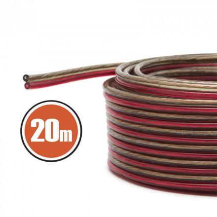 Hangszóró kábel 2 x 1,0 mm² 20 m NX20024x20