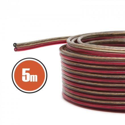 Hangszóró kábel 2 x 0,5 mm² 5 m NX20026x5