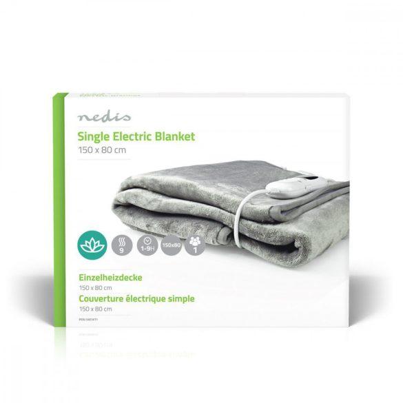 Elektromos takaró   150×80 cm   9 Hőfokozat   Jelzőfény   Túlhevülés Elleni Védelem Nedis PEBL130CWT1