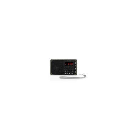 FM Rádió | 3,6 W | USB-port és microSD-kártya Nyílás | Fekete / Szürke