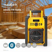 FM Rádió Munkaterületekre | 15 W | Bluetooth® | IPX5 | Fogantyú | Sárga/fekete RDFM3100YW