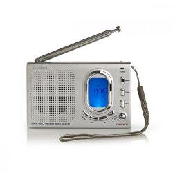 FM Rádió | 1,5 W | Világvevő rádió | Riasztási funkció | Szürke
