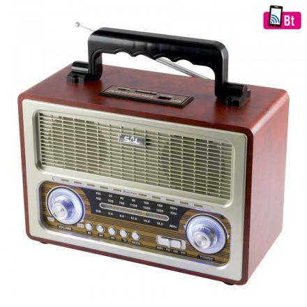 SAL Retro táskarádió és multimédia lejátszó RRT-3B