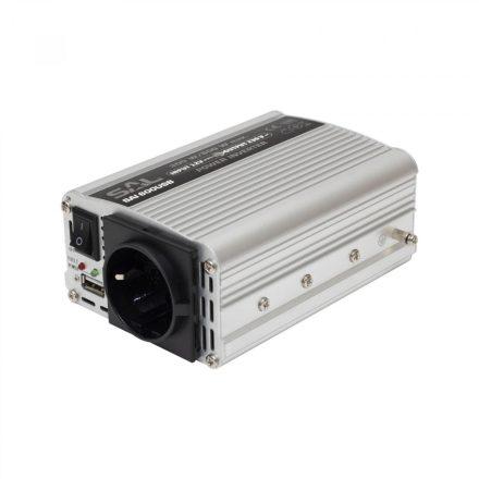 Feszültségátalakító,inverter 300/600W, USB aljzat SAI 600USB SAL