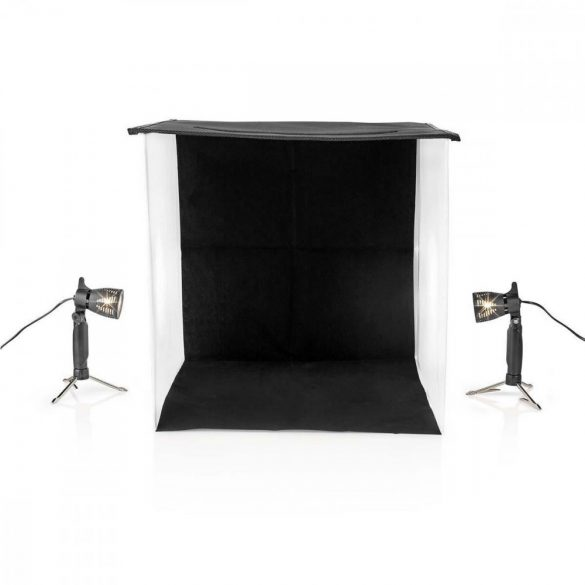 Fotóstúdió-készlet | 60 x 60 cm | 6500 K | Összehajtható  SKT012WT