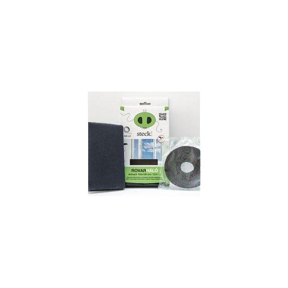 Steck Rovarháló,szúnyogháló antracit, ablakra 130x130 cm - SRA 13