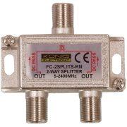 Műholdvevő F Elosztó 6.5 dB / 5-2400 MHz - 2 Kimenet Nedis SSPL210ME