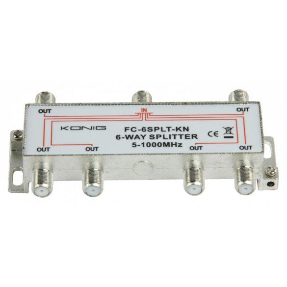 CATV Elosztó 10 dB / 5-1000 MHz - 6 Kimenet Nedis SSPL600ME