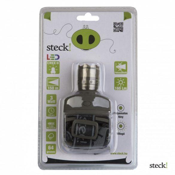 LED-es fejlámpa Steck STF 3  3W-os fokuszálható