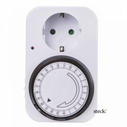 Steck mechanikus időkapcsoló óra STM 240V 15 perces legkisebb kapcsolás