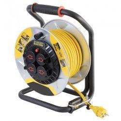 Kültéri fém kábeldob 25m 1,5 mm2 kábelvezető kábelfékező SXECCM2FASE