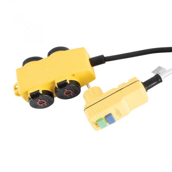SXECCR25AJE 4-es elosztó kapcsolóval, RCD dugóval 5m 1,5 mm SXECCR25AJE