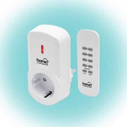 Távirányítható hálózati aljzat, távirányítóval Home TH 1011