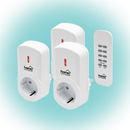 Távirányítható hálózati dugalj 3db, távirányítóval Home TH 1013