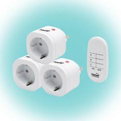 Távirányítható hálózati aljzat szett Home TH 3013