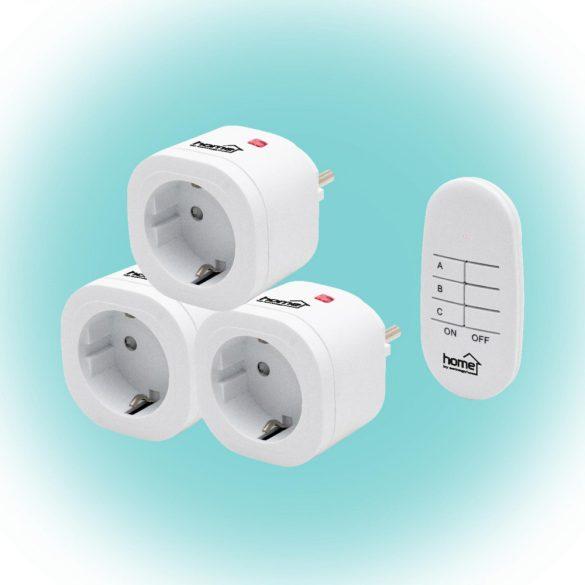 Távirányítható hálózati dugalj szett Home TH 3013