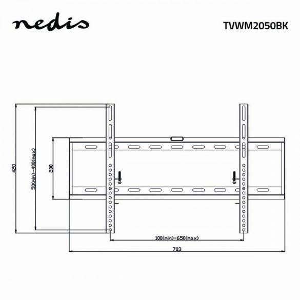 """Rögzített Fali TV-tartókonzol   42-70""""   Max 60 kg   29 mm-es Távolság a Faltól"""