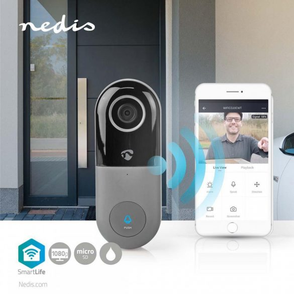 SmartLife Videó kaputelefon Full HD 1080p Mozgásérzékelővel  Éjjellátó WIFICDP10GY