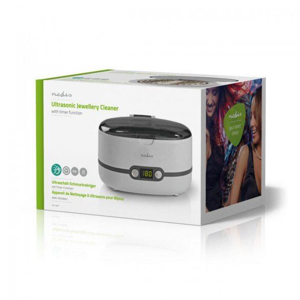 Ultrahangos tisztító ékszertisztító | 600 ml-es Kapacitás | Digitális Időzítő Nedis JECL110WT
