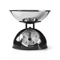 Retró stílusú konyhai mérleg | Analóg | Fém | Fekete  kasc110bk