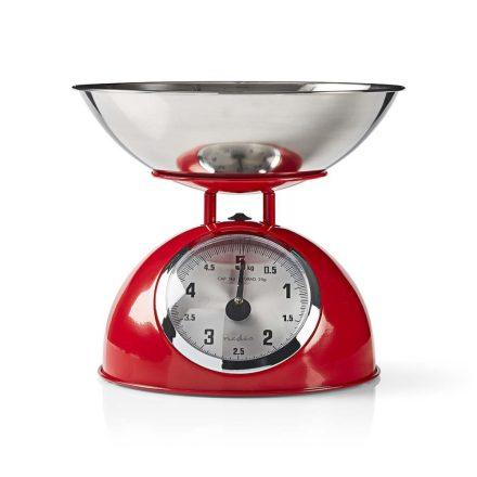Retró stílusú konyhai mérleg | Analóg | Fém | Vörös  kasc110rd