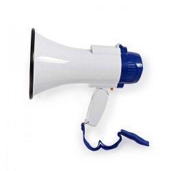 Megafon | 10 W | 250 m-es Hatótávolság | Beépített Mikrofon | Fehér / Kék  meph150wt