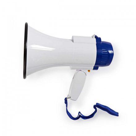 Megafon   10 W   250 m-es Hatótávolság   Beépített Mikrofon   Fehér / Kék  meph150wt