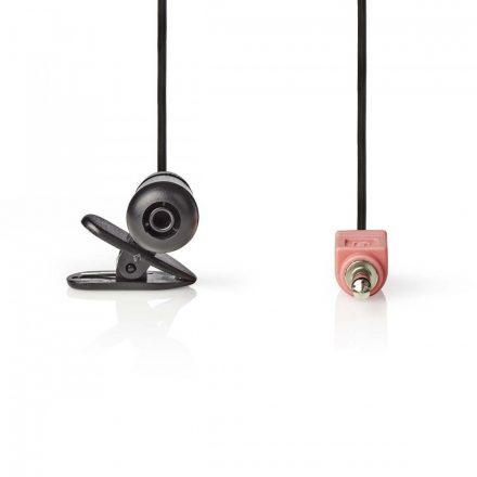 Vezetékes Mikrofon | Felerősíthető | 3.5 mm | Fekete Nedis miccj100bk
