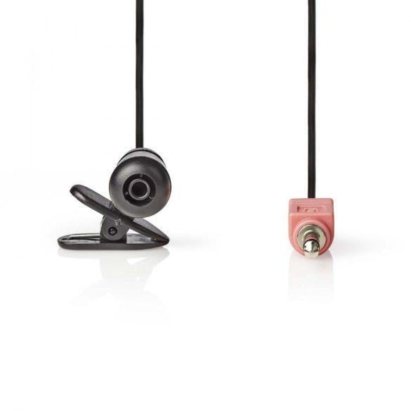 Vezetékes Mikrofon   Felerősíthető   3.5 mm   Fekete Nedis miccj100bk
