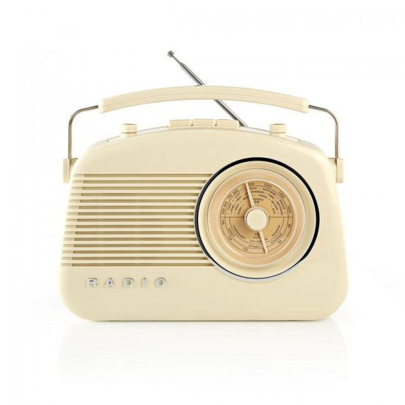 FM Rádió | 4,5 W | Hordfogantyú | | Elefántcsont Nedis rdfm5000bg